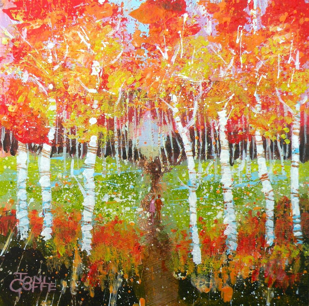 """Into the Woods"" original fine art by Toni Goffe"