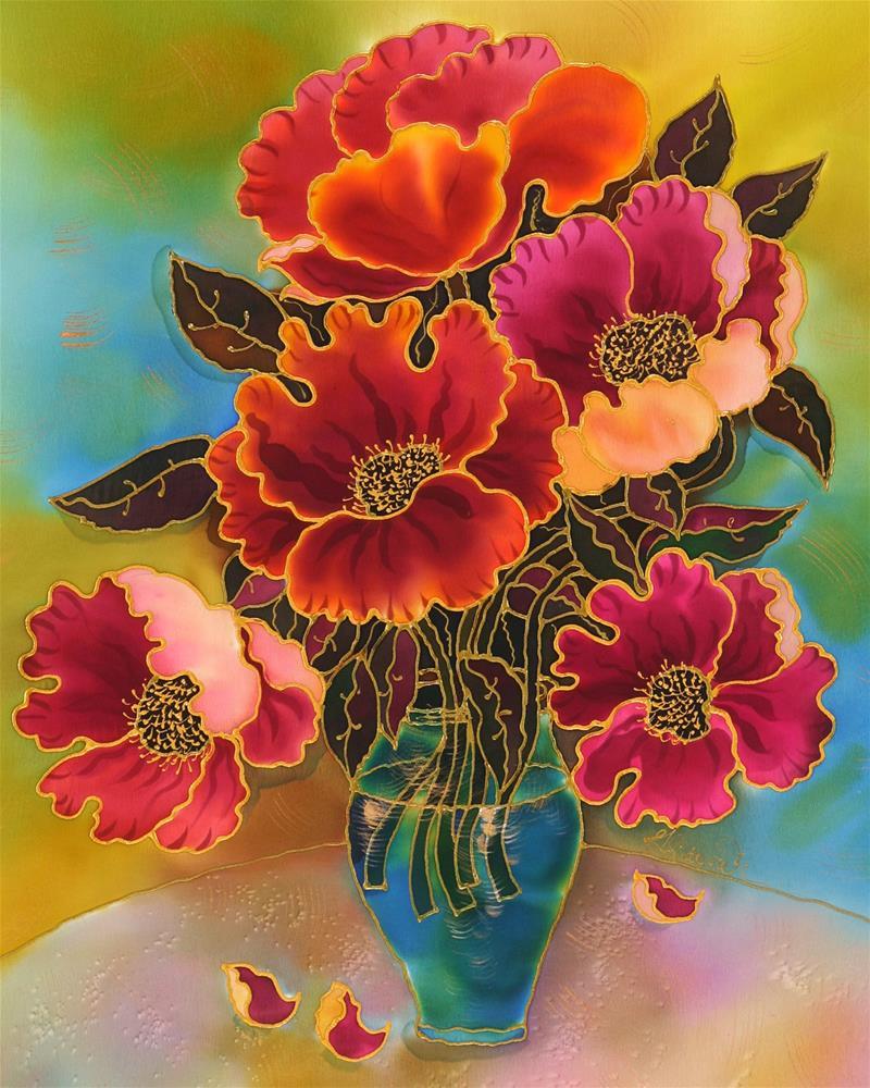 """Poppies"" original fine art by Yelena Sidorova"