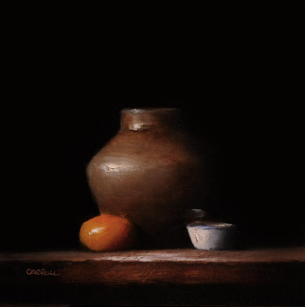 """Vase with Finger Bowl"" original fine art by Neil Carroll"