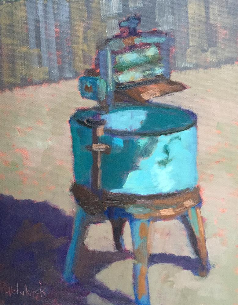 """""""Old Wringer"""" original fine art by Pam Holnback"""