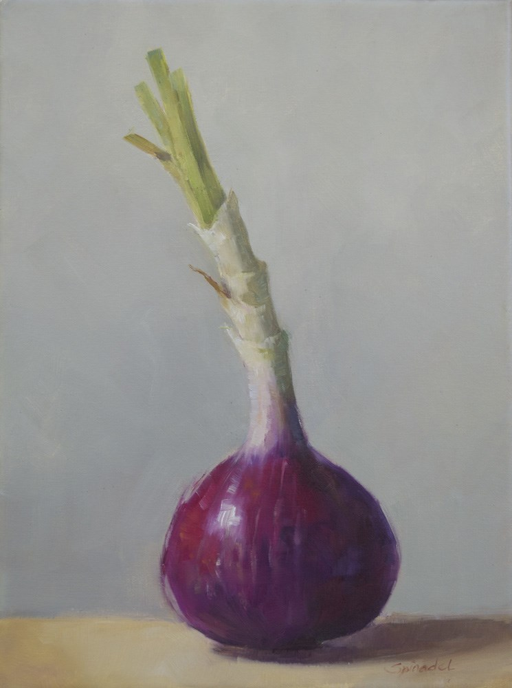 """Red Onion"" original fine art by Nancy  Spinadel"