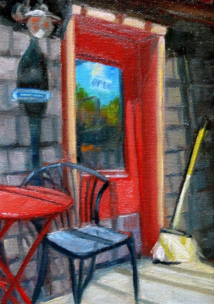 """Red Door at Caffe Dolce"" original fine art by Cietha Wilson"