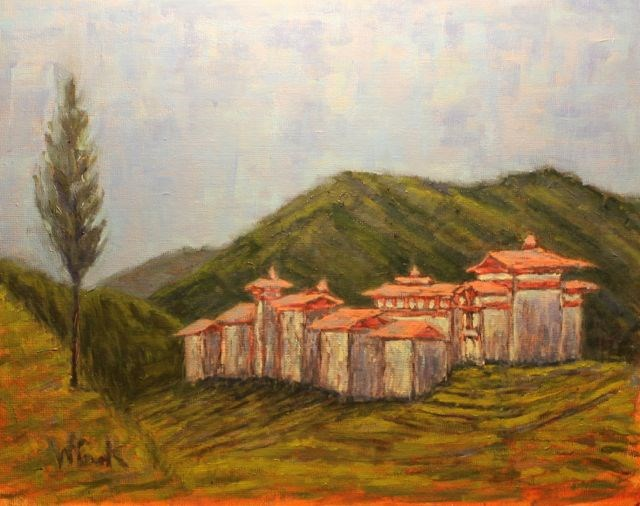 """Bhutan"" original fine art by William Cook"