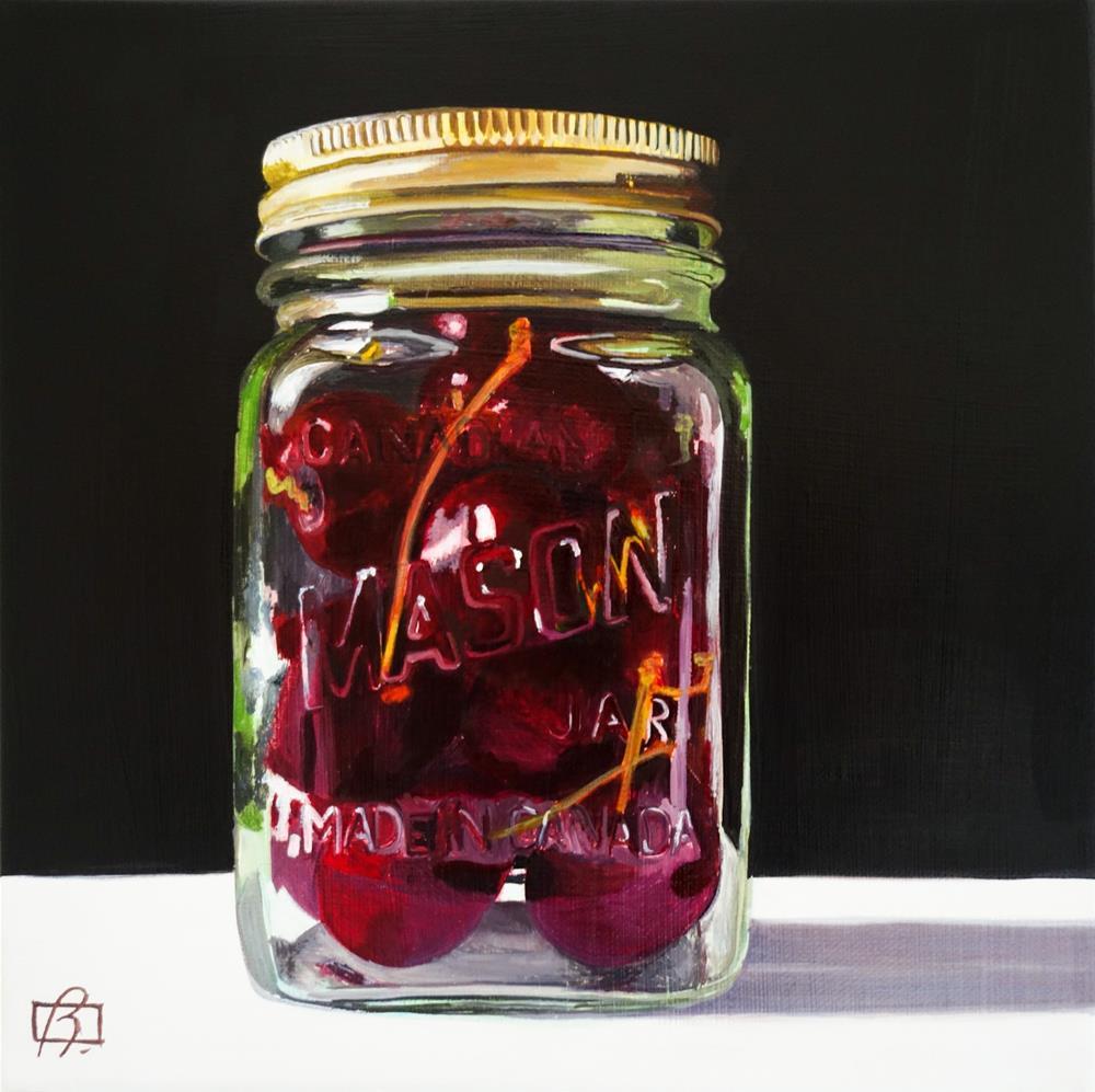 """Cherries III (3 day painting)"" original fine art by Andre Beaulieu"