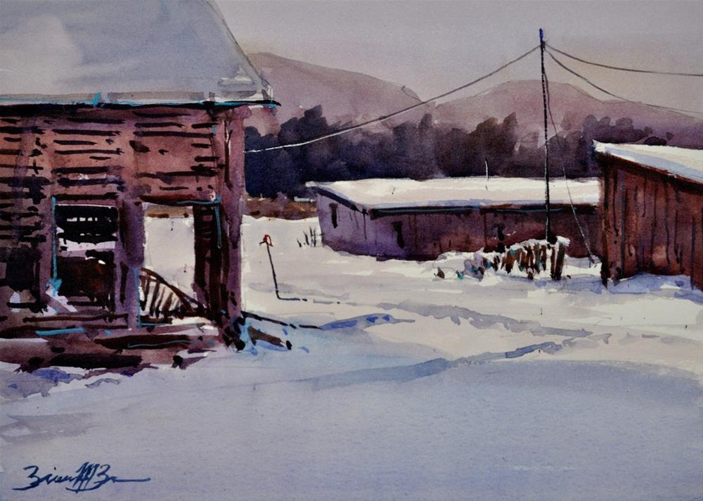 """After the First Snow"" original fine art by Brienne M Brown"