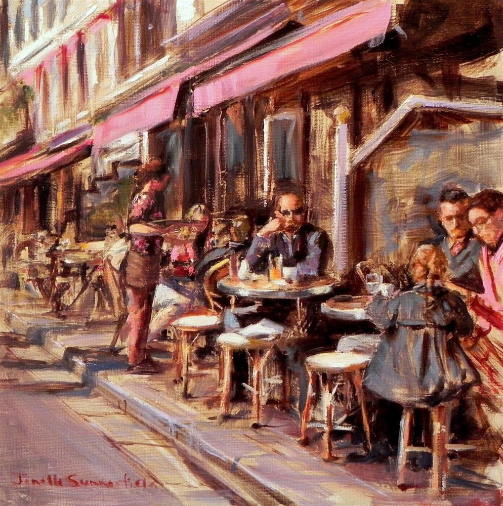"""Breakfast in Honfleur"" original fine art by Jonelle Summerfield"