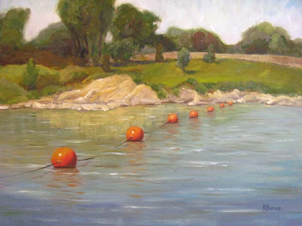 """Line Dancing on the Scioto"" original fine art by Robie Benve"