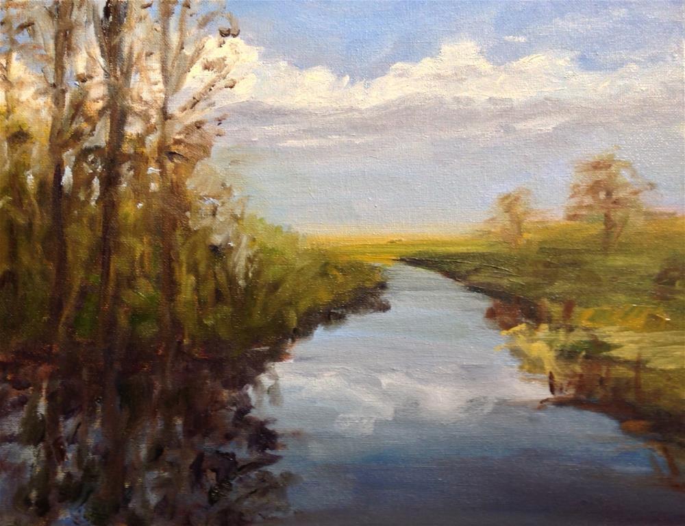 """Sunset at the Glades"" original fine art by Debra Kennedy"