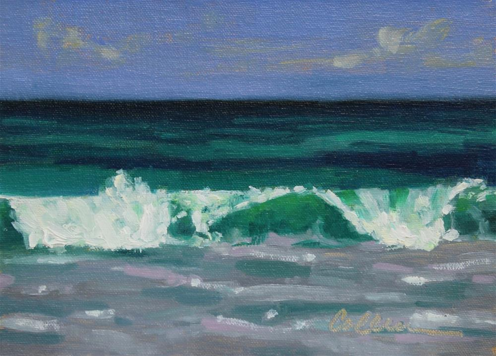 """Emerald Wave"" original fine art by Colleen Parker"