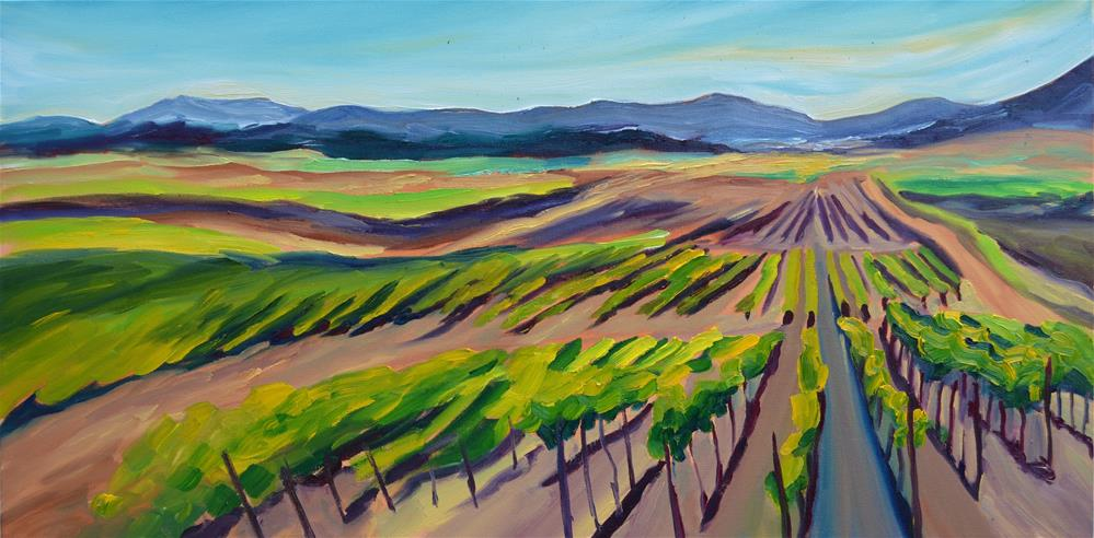 """Spring Vineyard"" original fine art by Loralee Chapleau"