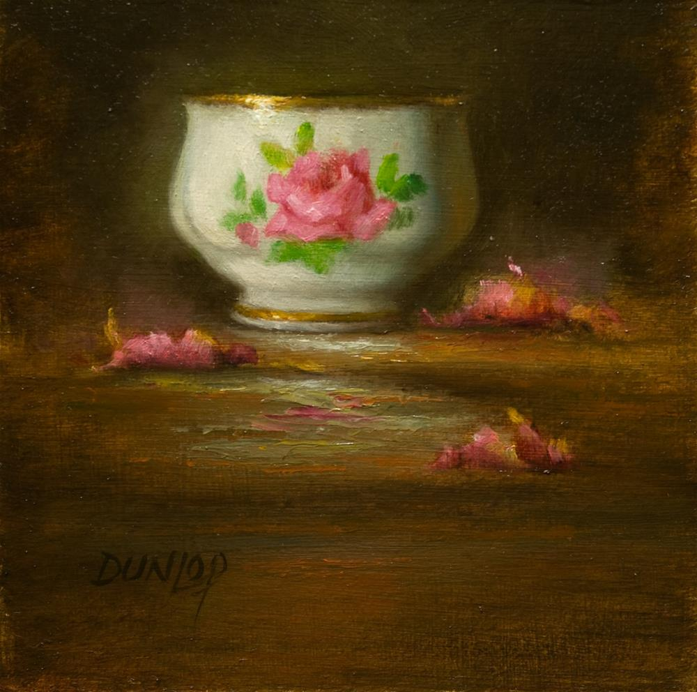"""Teacup #10"" original fine art by Bobbi Dunlop"