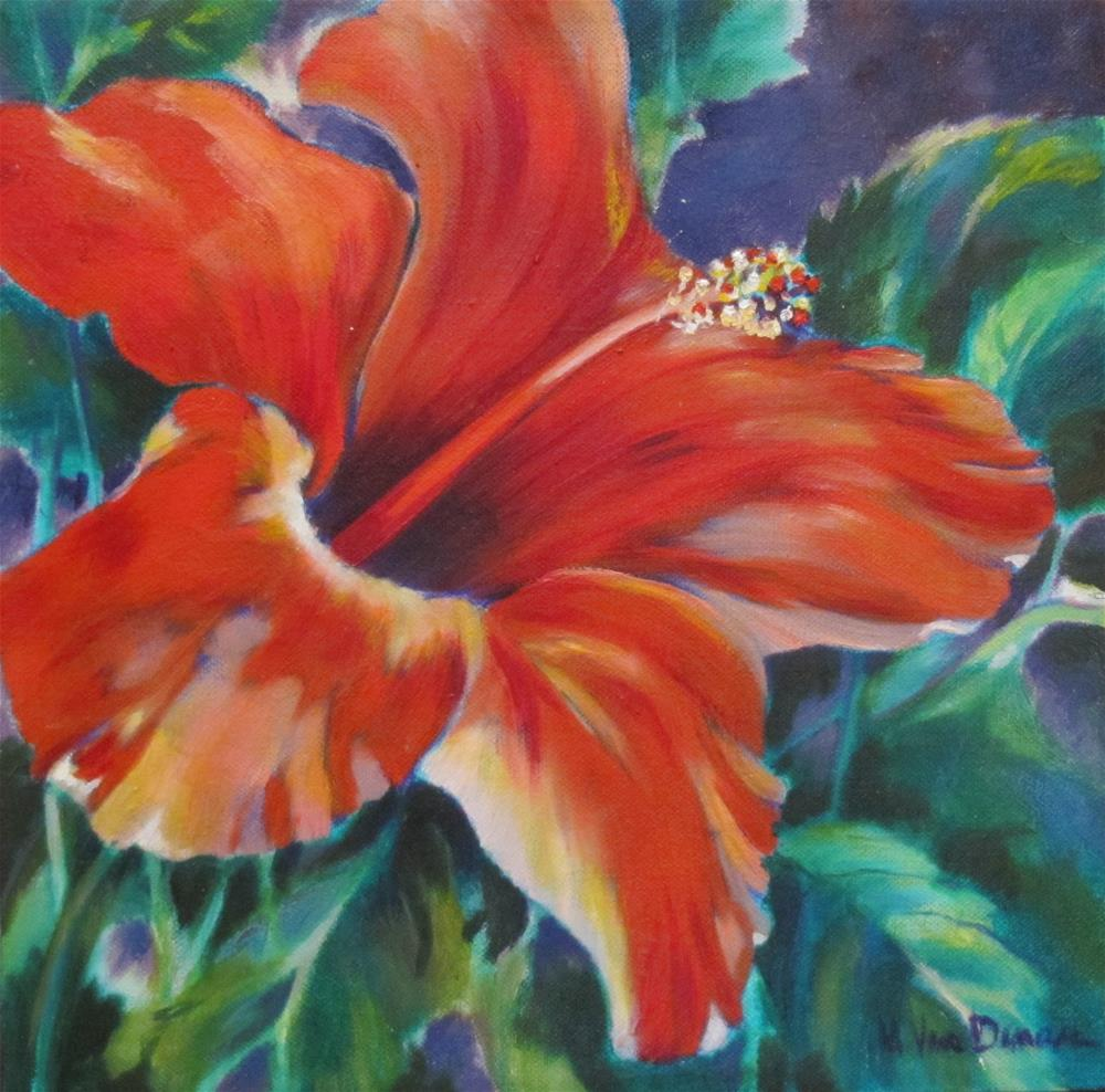 """For Love of Red"" original fine art by Mary Van Deman"