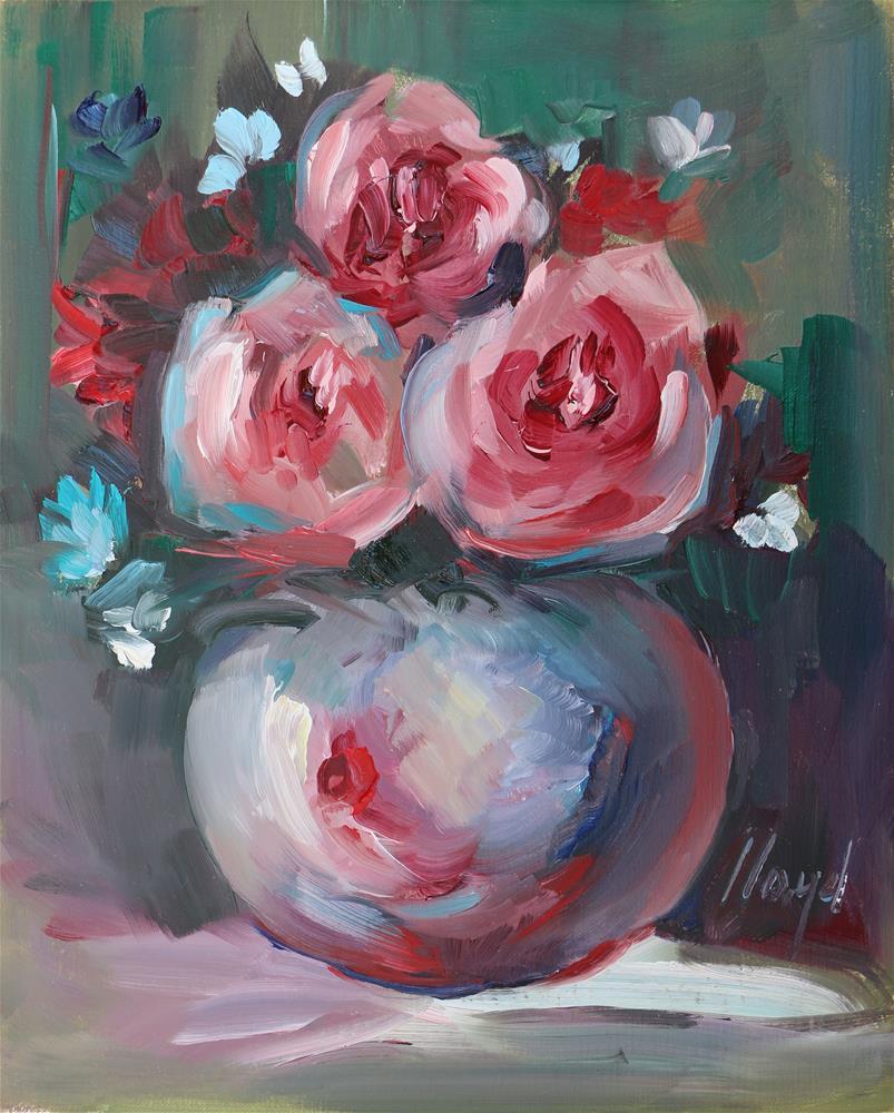 """Garden Roses"" original fine art by Diane Lloyd"