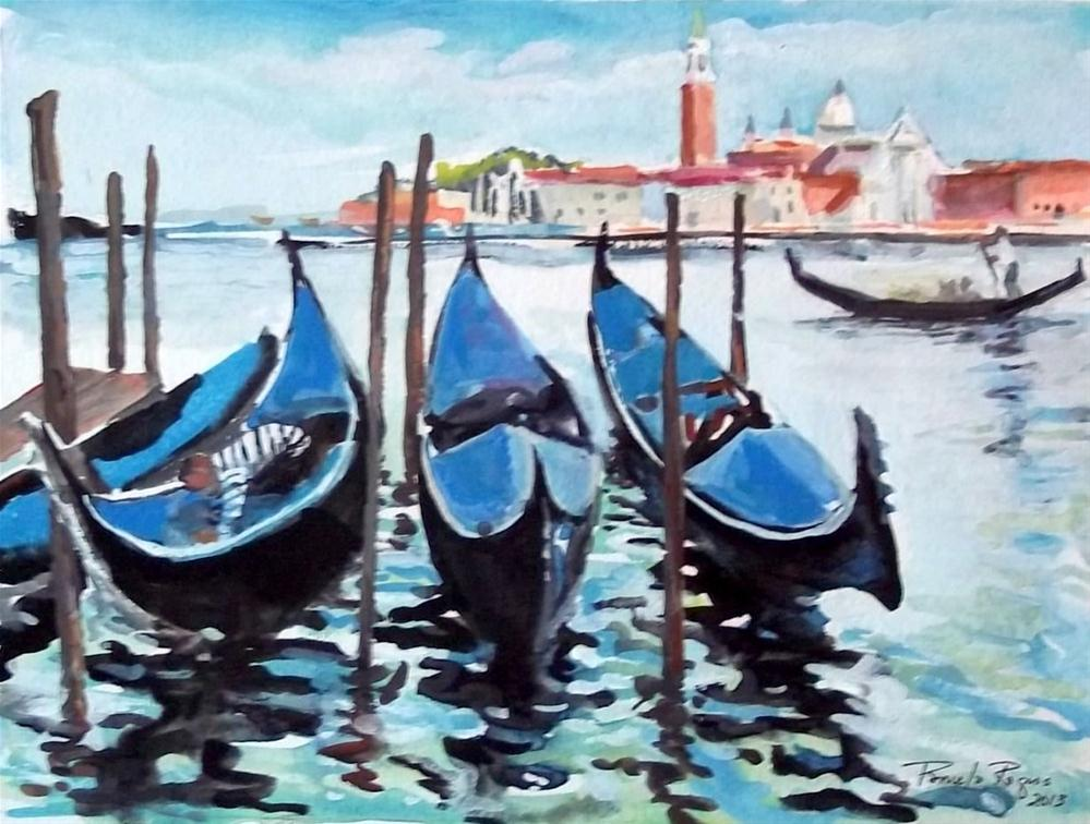 """Gondola Delight"" original fine art by Pamela Jane Rogers"