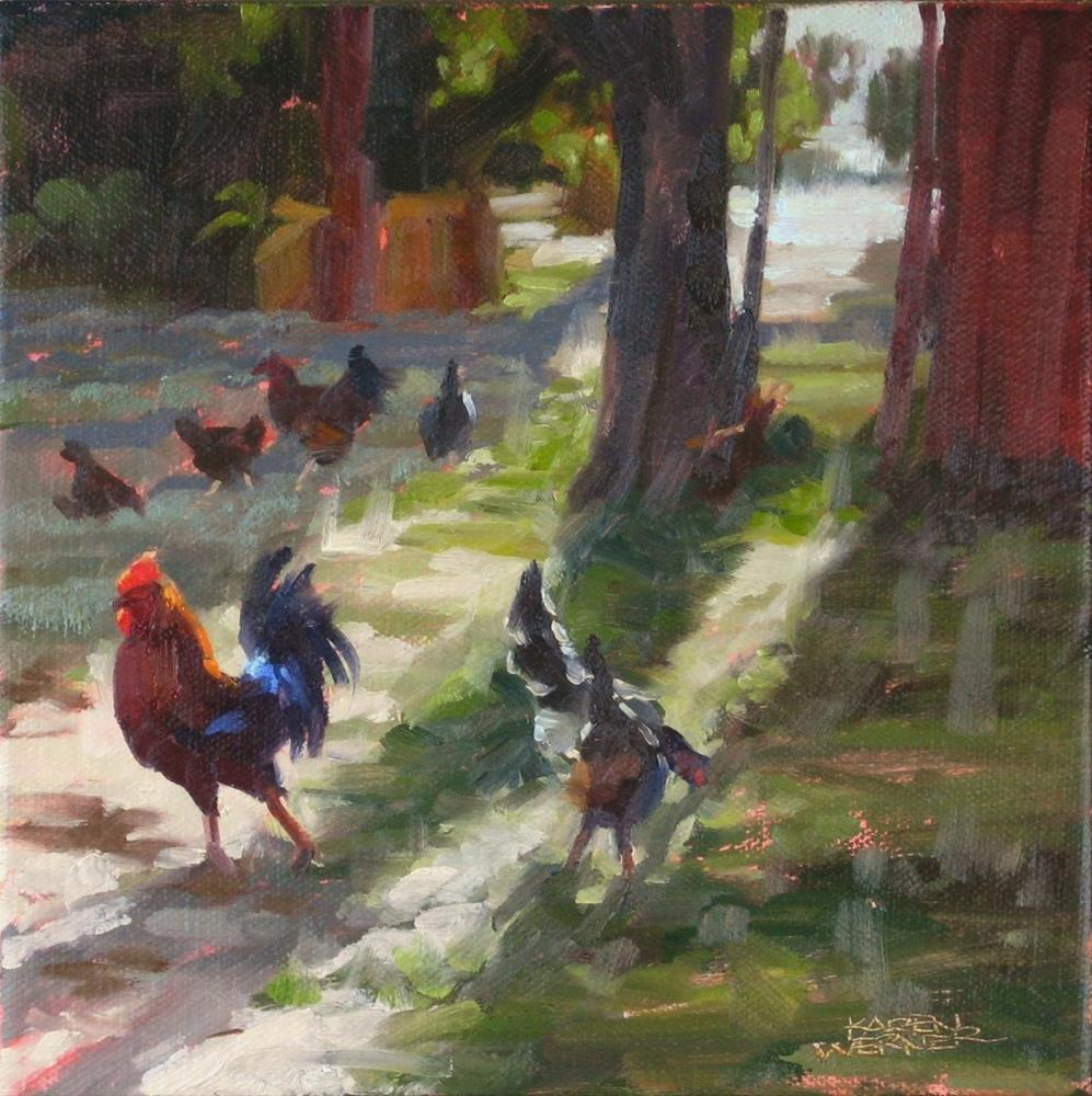 """The Morning Strut"" original fine art by Karen Werner"