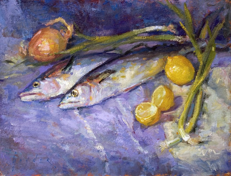 """Fresh Catch"" original fine art by Julie Snyder"