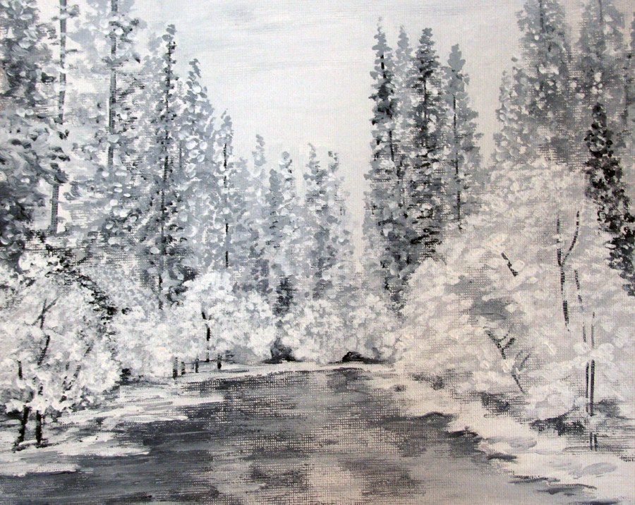 """Hazy Shade of Winter"" original fine art by Nan Johnson"