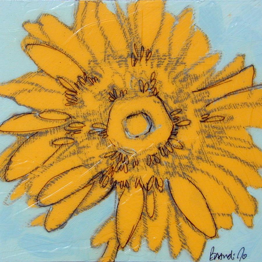 """yellow daisy sketch"" original fine art by Brandi Bowman"