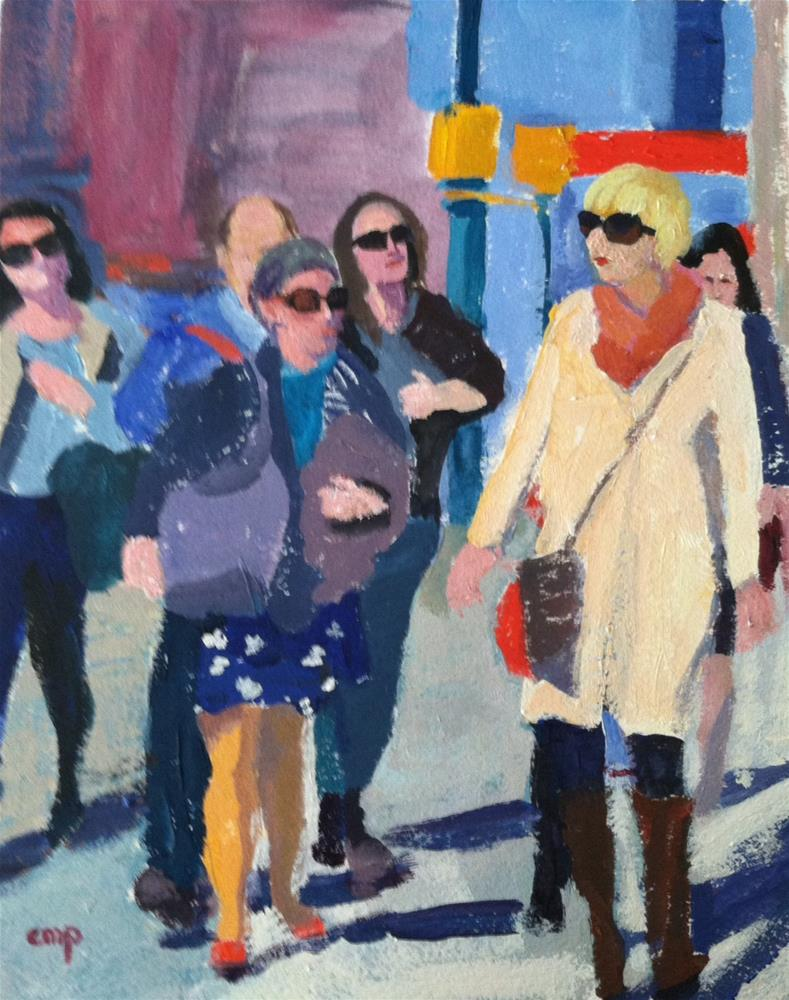 """Crowd"" original fine art by Christine Parker"
