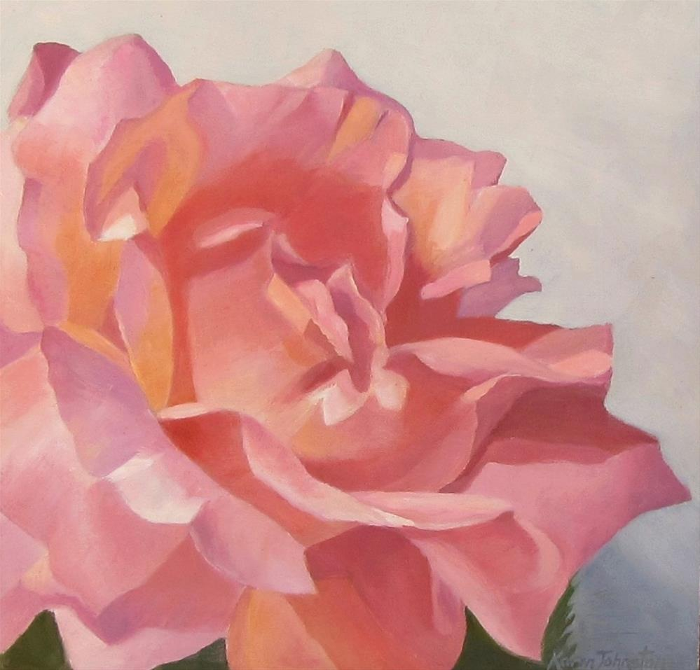 """Rose Joy"" original fine art by Karen Johnston"
