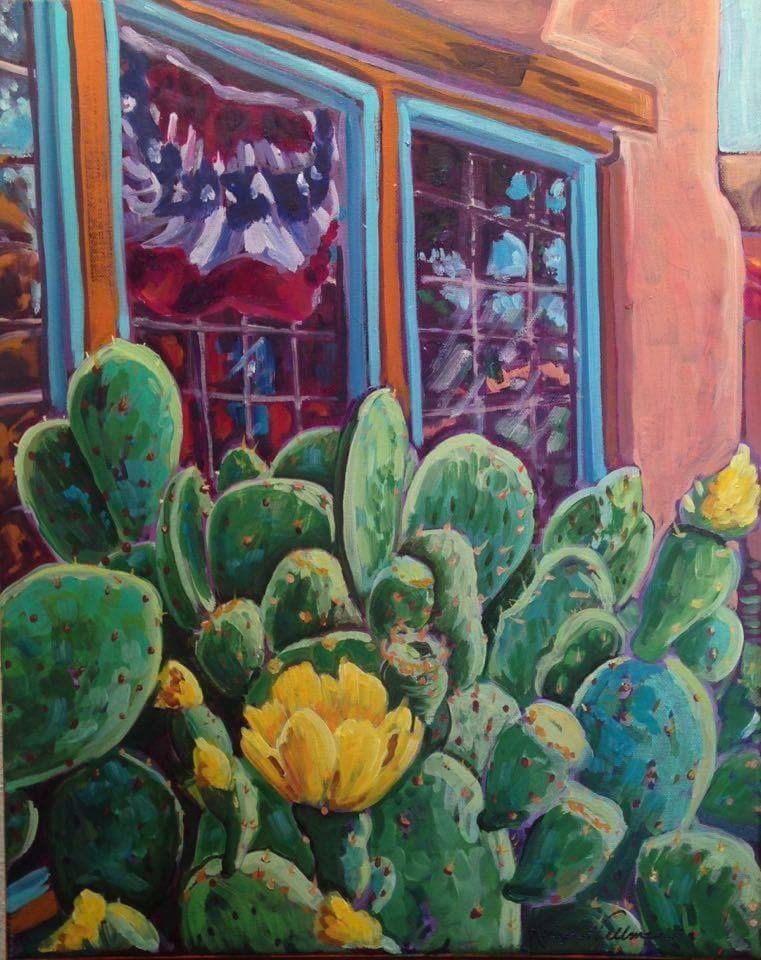 """Old Town Albuquerque July"" original fine art by Robyn Wellman"