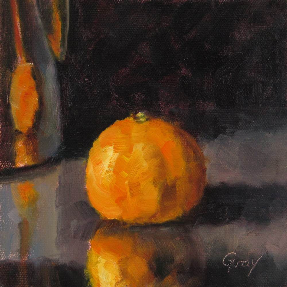 """Orange & Reflections"" original fine art by Naomi Gray"