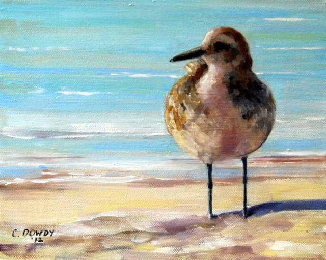 """Sandpiper Profile"" original fine art by Christina Dowdy"