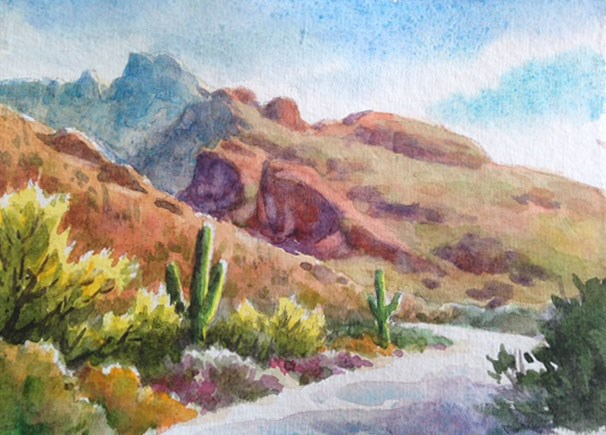 """Desert Snippet"" original fine art by Erin Dertner"