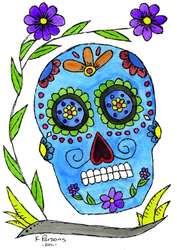 """Dia de los Muertos"" original fine art by Kali Parsons"