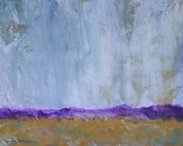 """Purple Mountain Rain"" original fine art by Jana Johnson"