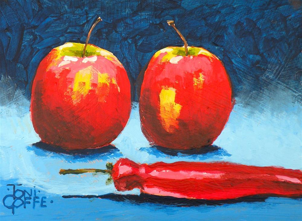 """Interesting Salad"" original fine art by Toni Goffe"