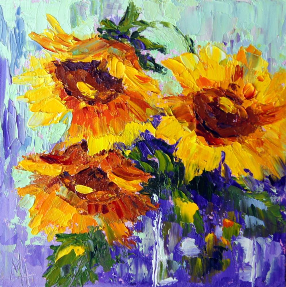 """Sunny days"" original fine art by Marion Hedger"