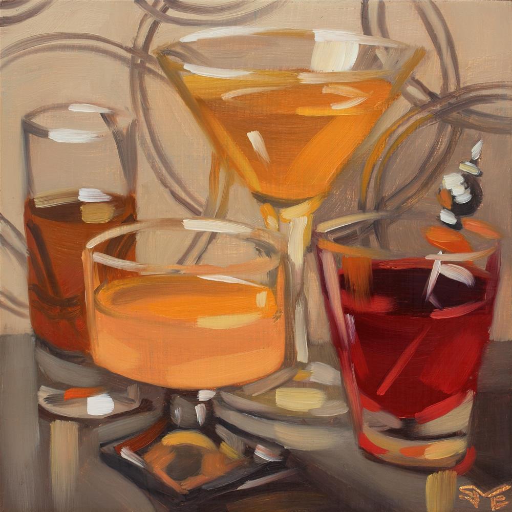 """Inner Circle"" original fine art by Sheila Evans"