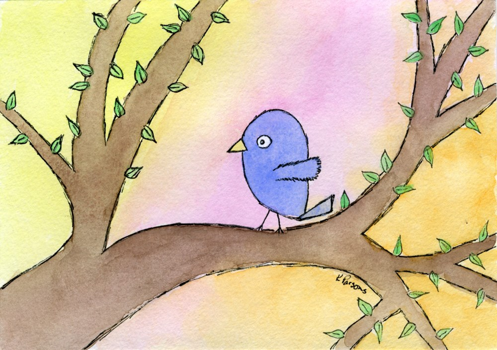 """Little Blue"" original fine art by Kali Parsons"