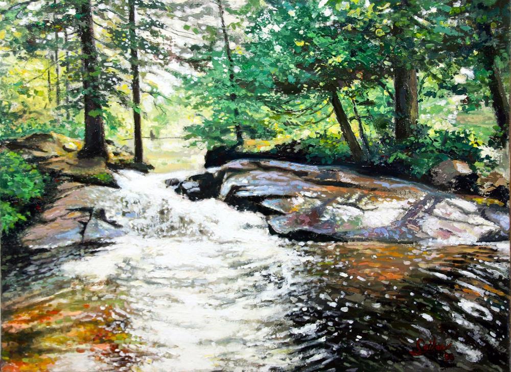 """Above the Falls"" original fine art by Larry Seiler"