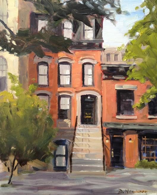 """Upper East Side"" original fine art by Deborah Newman"