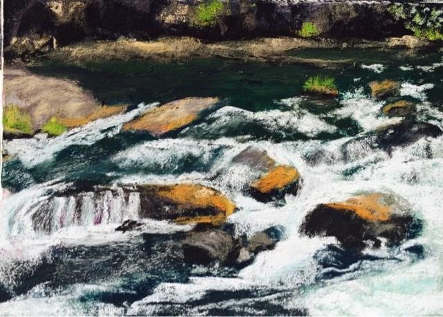 """""""ROCKS & RIFFLES"""" original fine art by Marti Walker"""