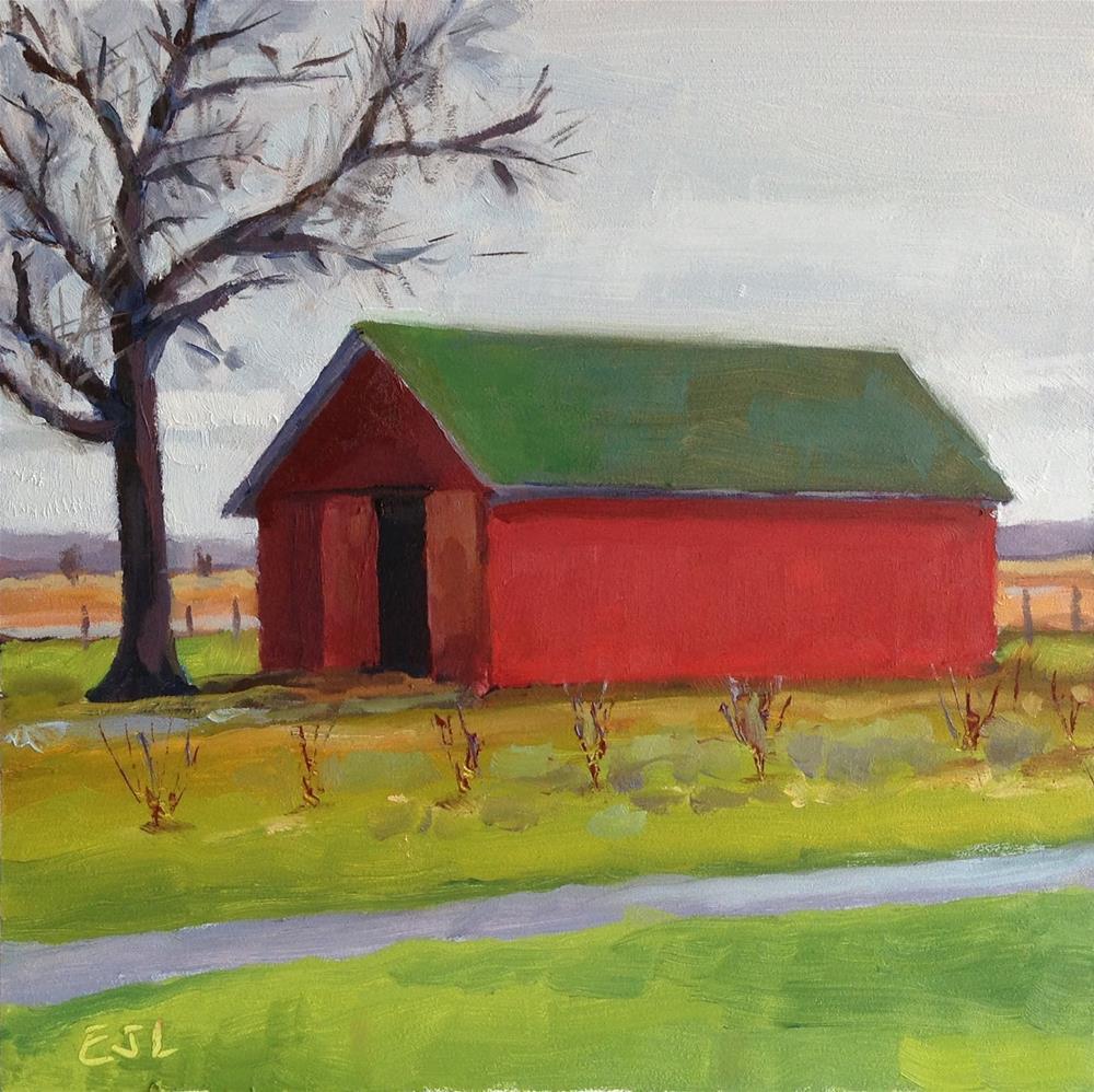 """Autumn Shed"" original fine art by Eric Larson"