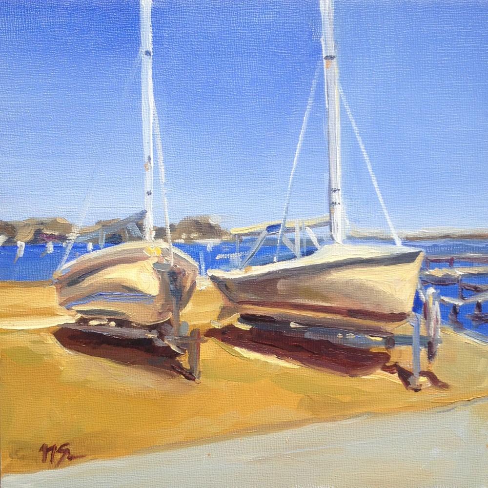 """Boat Buddies"" original fine art by Nikita Sonavadekar"