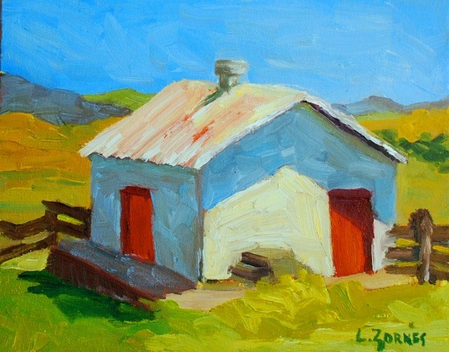 """Ranch Creamery"" original fine art by Liz Zornes"
