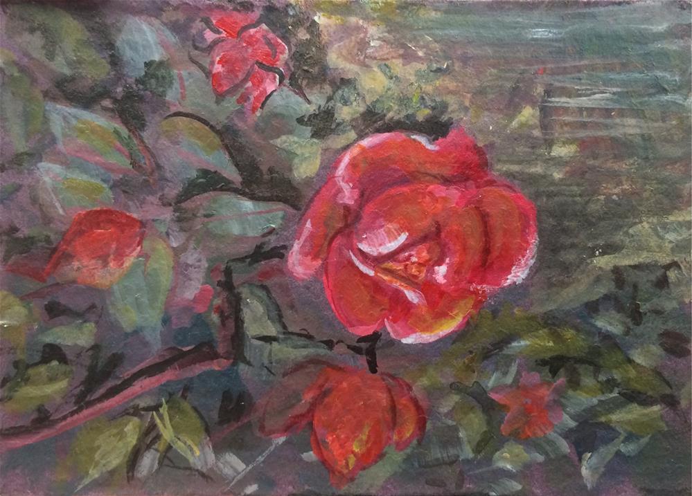 """""""Wild Rose"""" original fine art by Allison Dollar"""