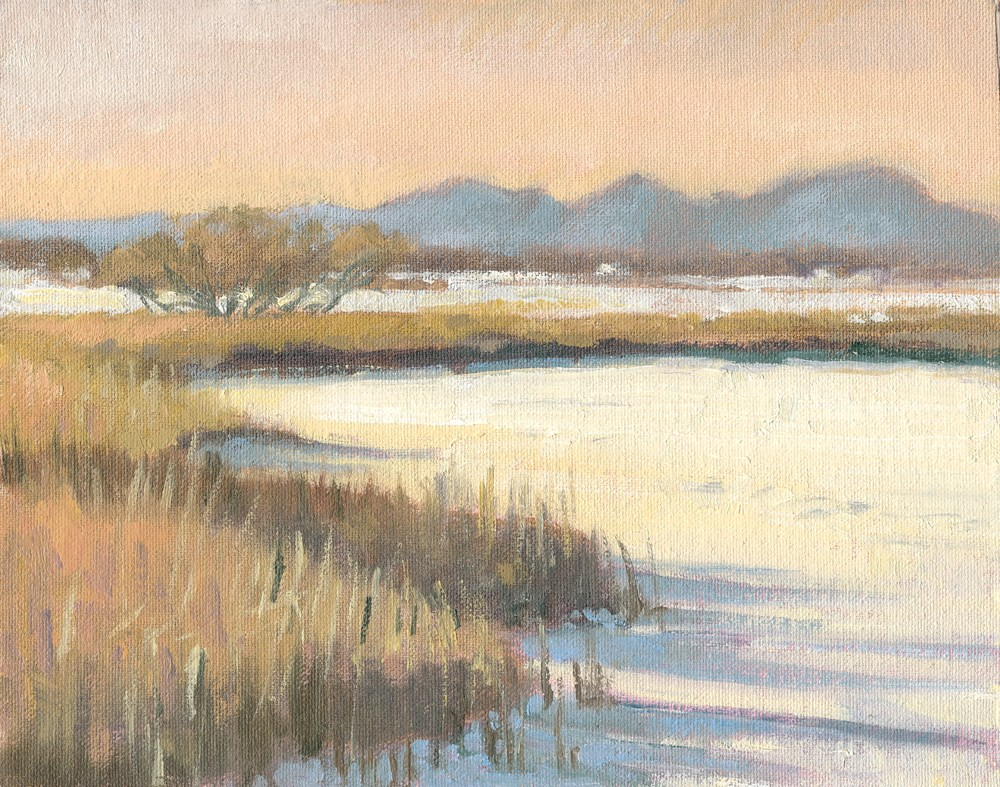 """Frozen Lake"" original fine art by Kath Reilly"