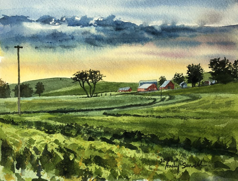 """Palouse After the Rain"" original fine art by Andy Sewell"