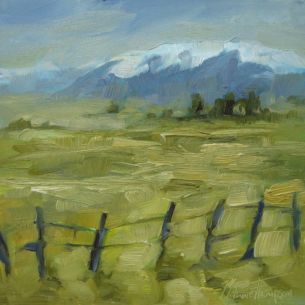 """Wallowa Fields"" original fine art by Melanie Thompson"