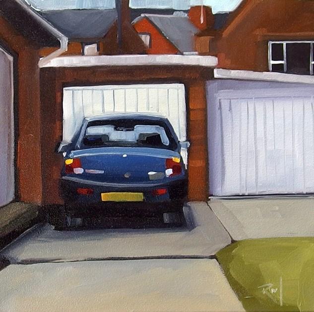 """No 816 Driveway Treasures No 5"" original fine art by Robin J Mitchell"