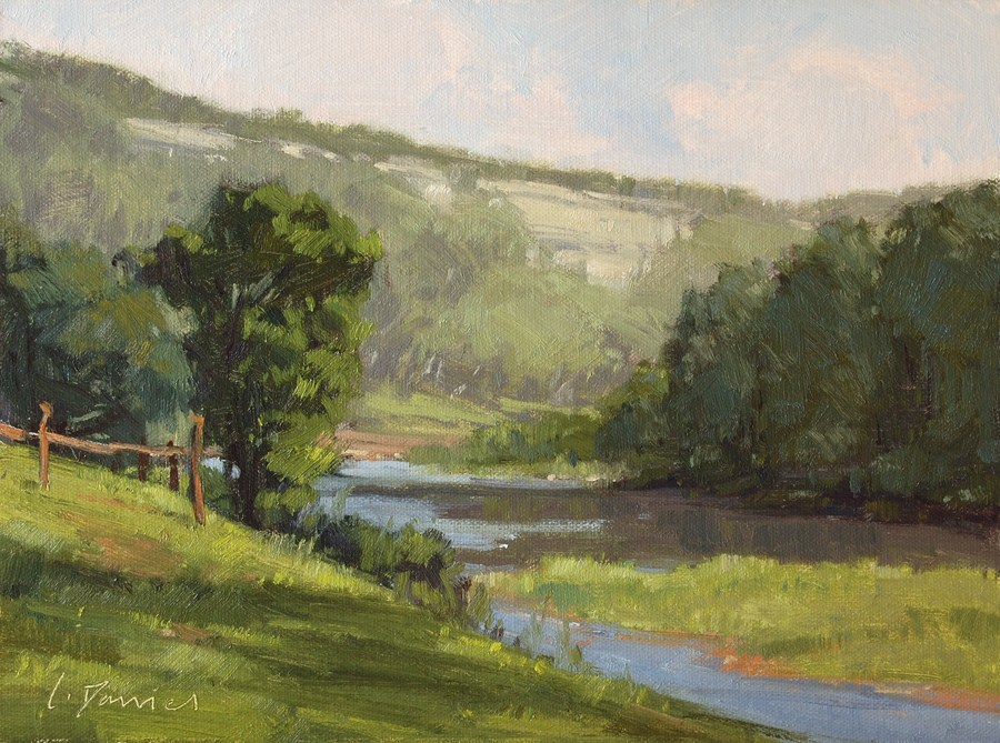 """River Bend"" original fine art by Laurel Daniel"