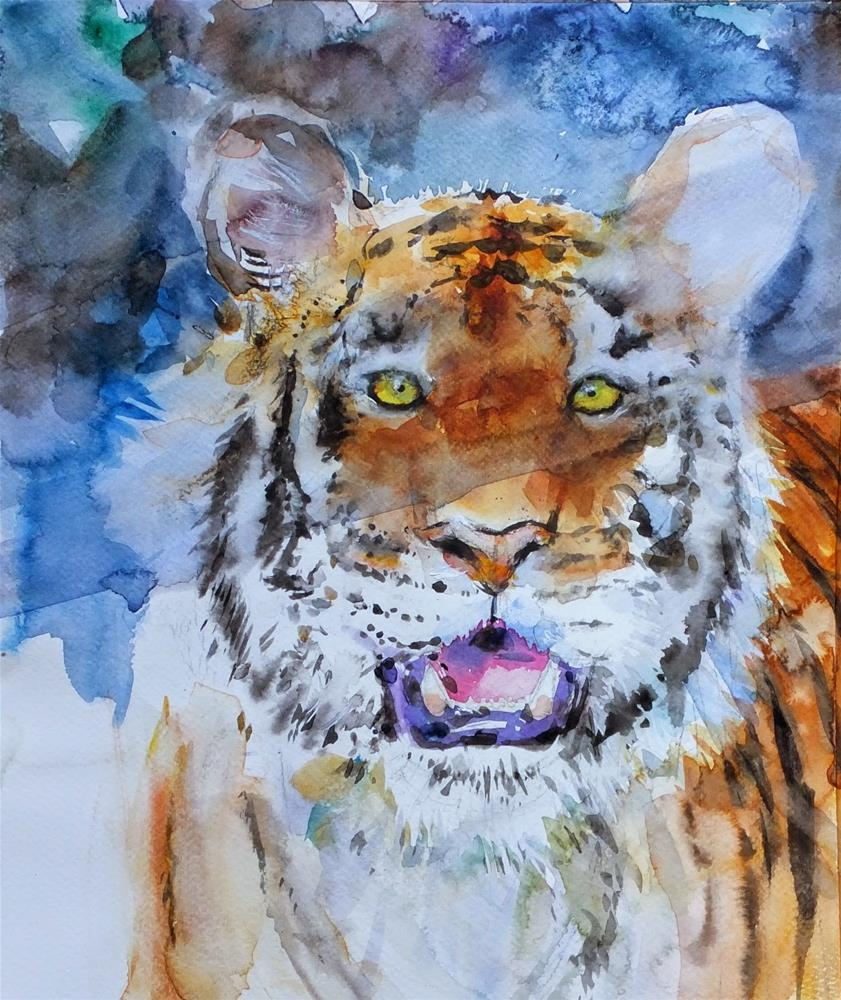 """Al Ain Zoo"" original fine art by Midori Yoshino"