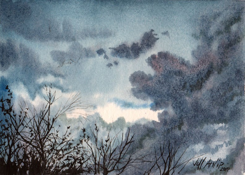 """Storm on the Way"" original fine art by Jeff Atnip"