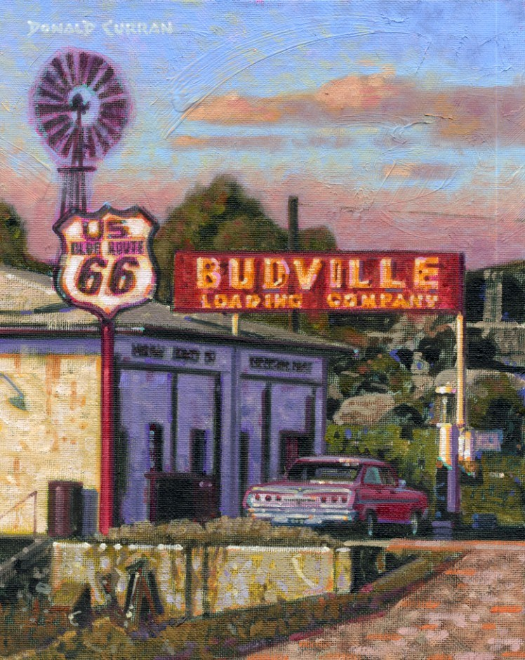 """Along Route 66"" original fine art by Donald Curran"