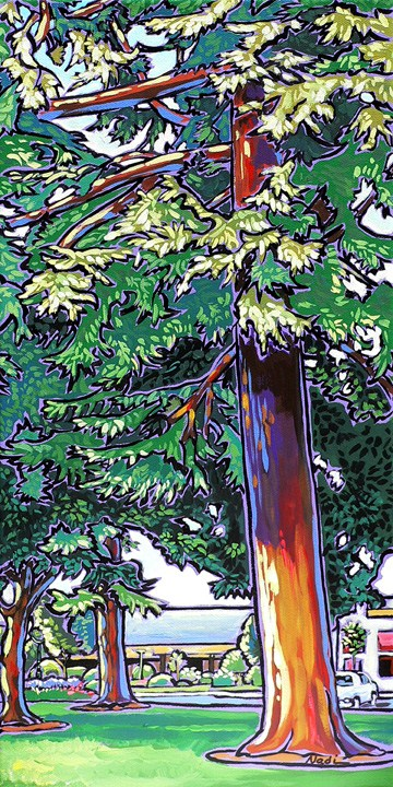 """40 Joyner Park"" original fine art by Nadi Spencer"
